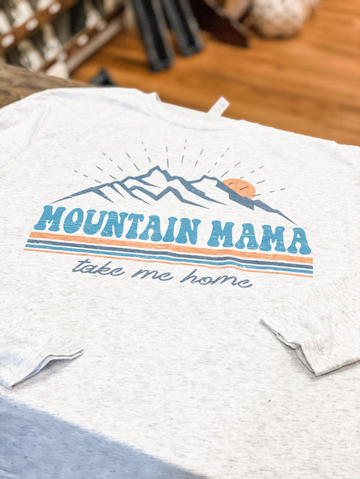 Long Sleeve Mountain Mama Graphic Tee