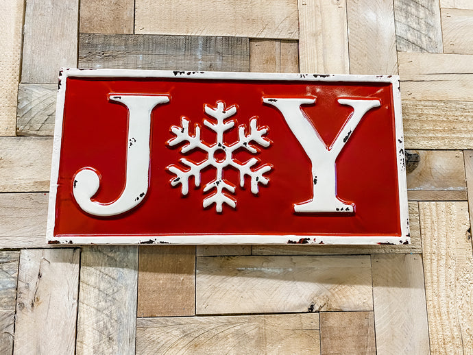 Metal Joy Sign