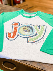 """Joy"" Baseball Sleeve Raglan"