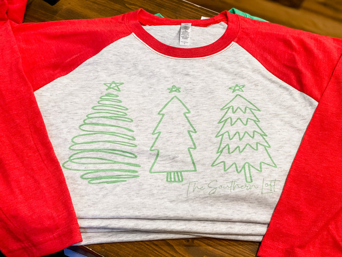 Christmas Tree Trio Tee