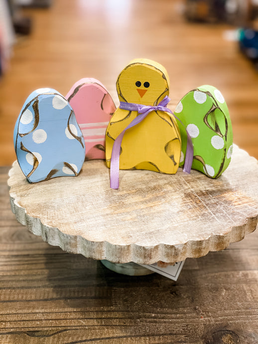 Handcut Wooden Easter Eggs