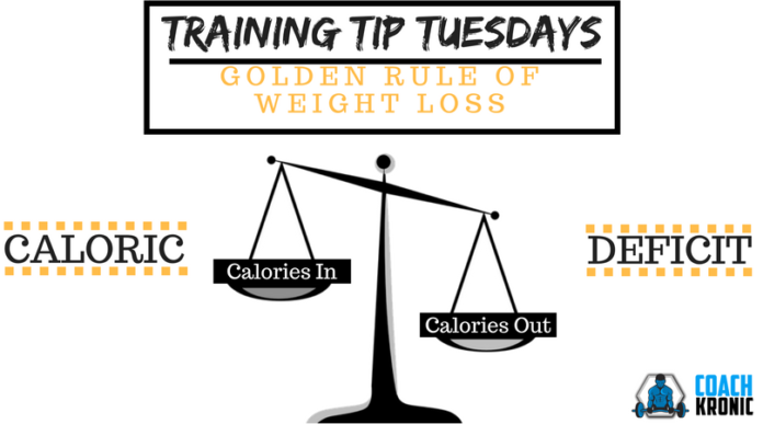 The Golden Rule Of Weight Loss