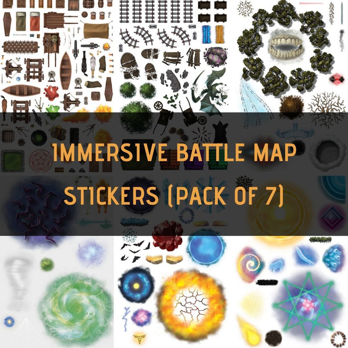 Immersive Battle Map Assortment Sticker Pack (7)