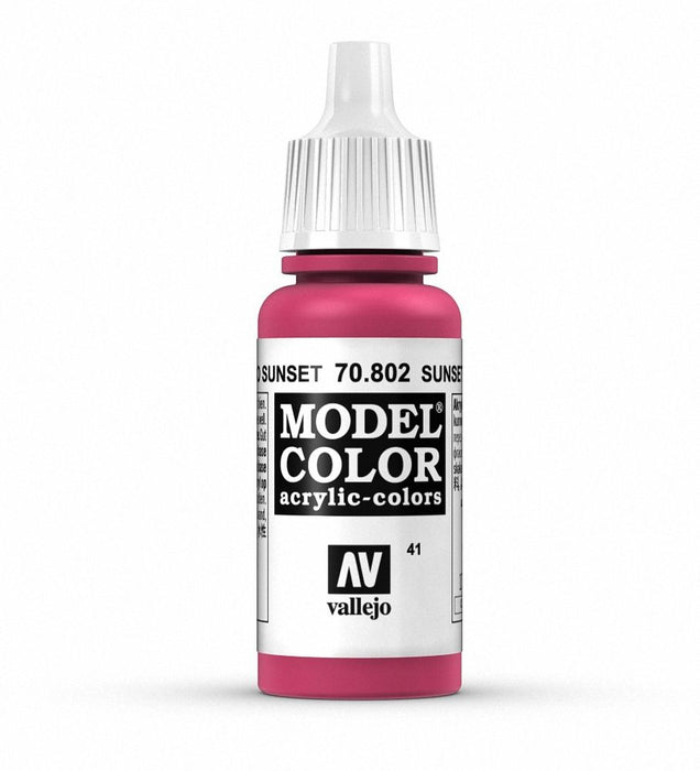 Vallejo Model Colour Sunset Red 17 ml