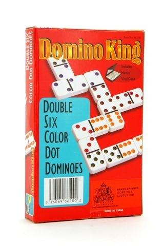 Dominoes King Double Six Coloured Dots