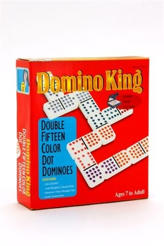 Domino King Double Fifteen Coloured Dots