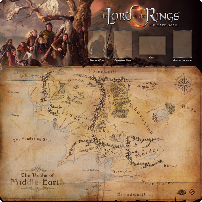 Lord of the Rings Fellowship 1-4 Player Gamemat