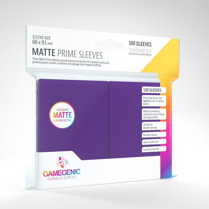 Gamegenic Matte Prime 100ct Purple Sleeves
