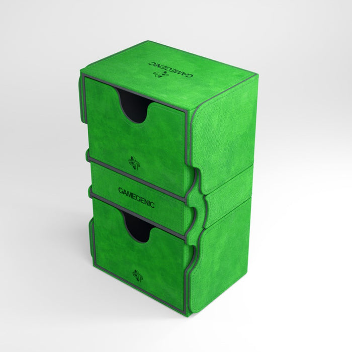Gamegenic Stronghold 200+ Convertible Green Deck Box