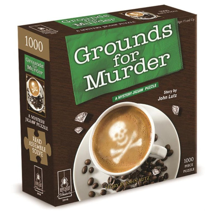 Murder Mystery Jigsaw Puzzles Grounds for Murder