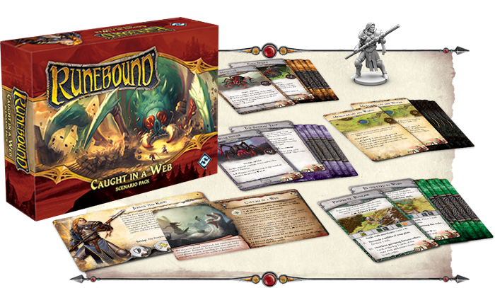 Runebound Third Edition Caught in a Web Scenario Pack