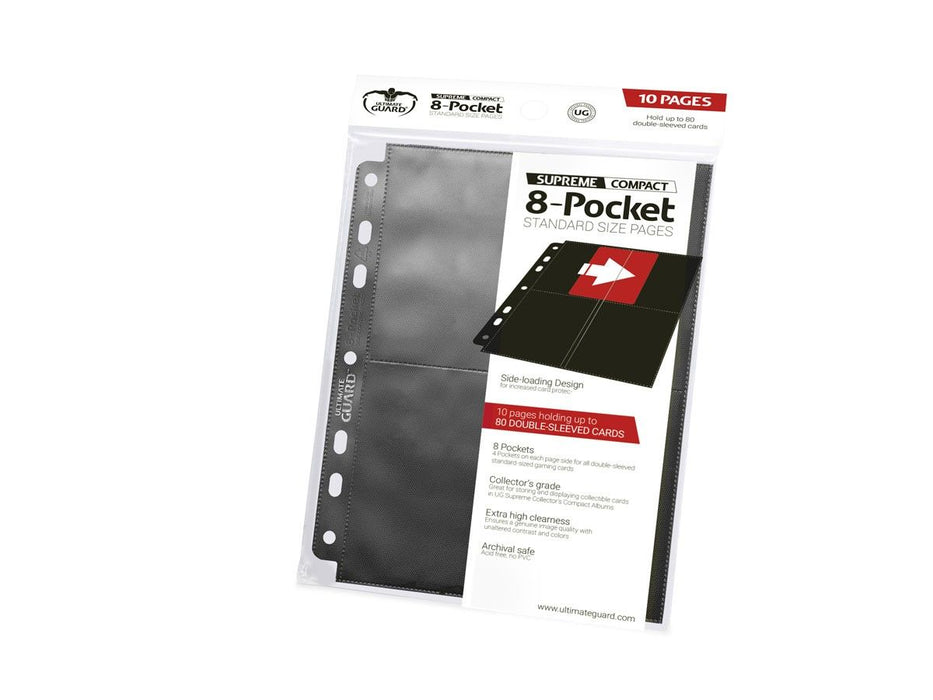 Ultimate Guard 8-Pocket Standard Size Pages Black (10) Folder