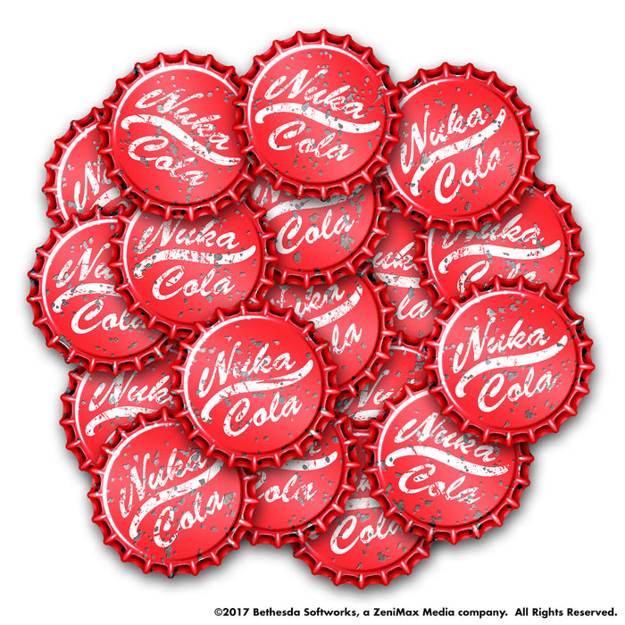 Fallout Wasteland Warfare Nuka Cola Revised Cap Set