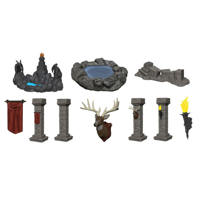 WizKids Deep Cuts Unpainted Miniatures Pools and Pillars