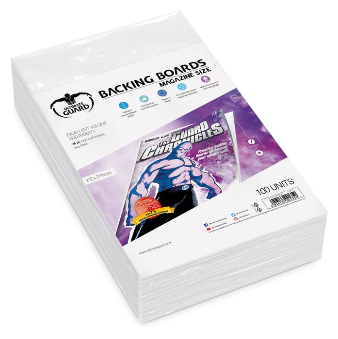 Ultimate Guard Comic Backing Boards Magazine Size (100)