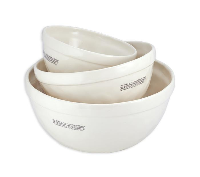 Kitchen Icon Mixing Bowls, Set of 3