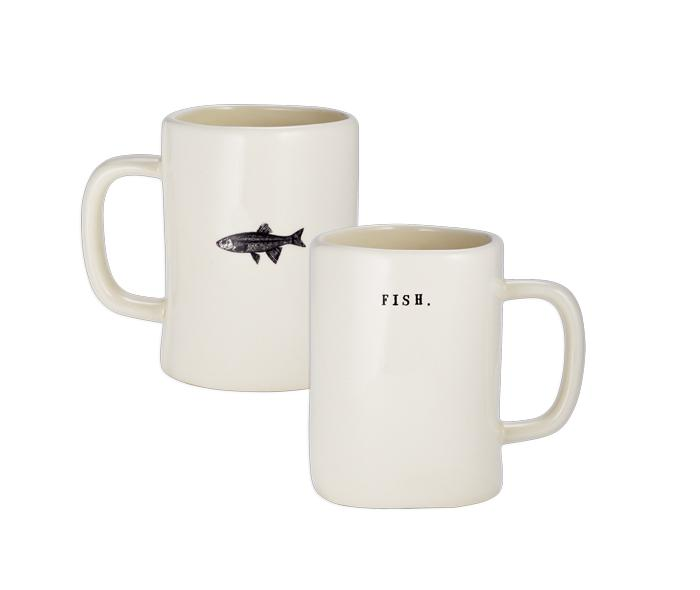 Fishing Mugs, Set of 4