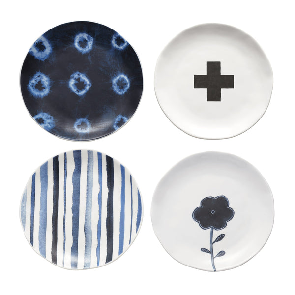 Indigo Dreams Plates, Set of 4