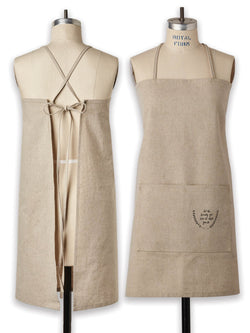 Linen-Cotton Blend Apron (Small)