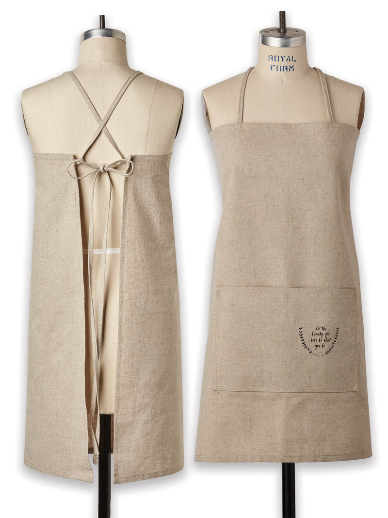 Linen-Cotton Blend Apron, Small