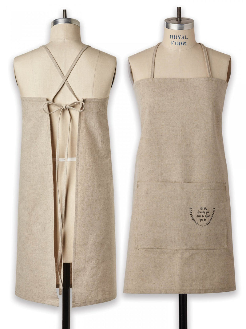 Linen-Cotton Blend Apron (Large)
