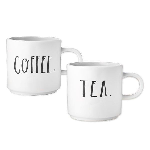 Stem Print COFFEE + TEA Mugs, Set of 2