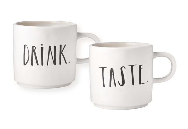 Stem Print DRINK + TASTE Mugs, Set of 2