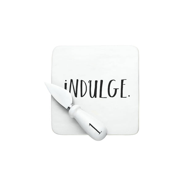 Stem Print INDULGE + SAVOR Cheese Set with Gift Box