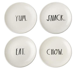 Stem Print Small Plates, Set of 4