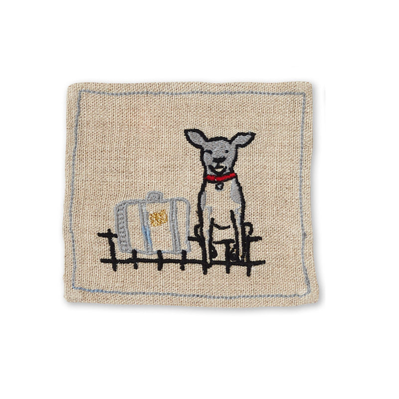 Wilma Embroidered Coasters Set of 6