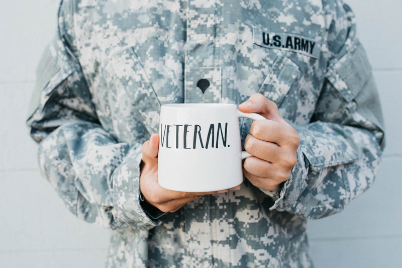 Stem Print Tapered VETERAN Mug (Pack of 2)