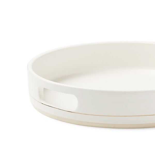 Palm Desert Serving Tray in White