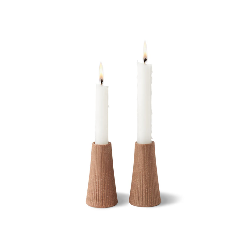 Canyon Ceramic Candle Holder, Set of 2