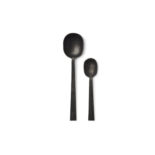 French Roast Spoons in Black, Set of 2