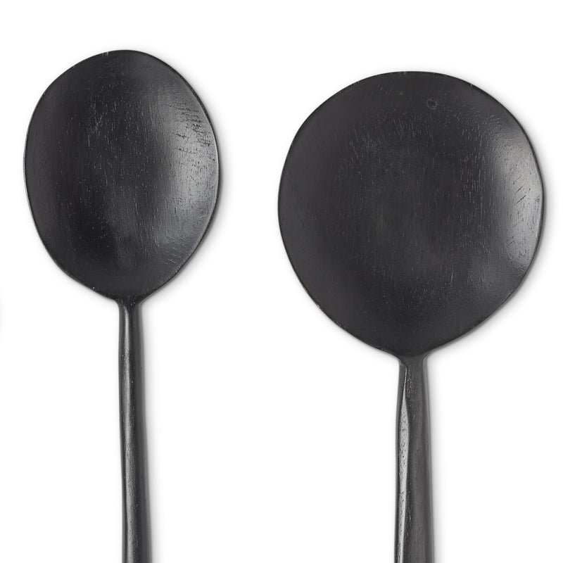 Noir Ebonized Wood Spoons, Set of 5
