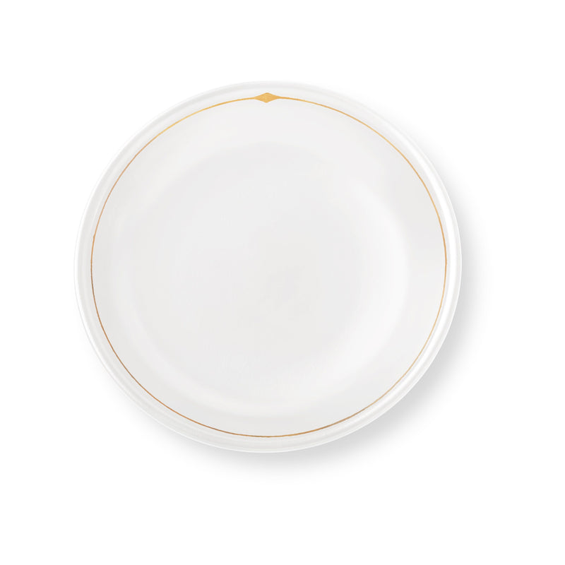 Palm Desert Luncheon Plates in White, Set of 4