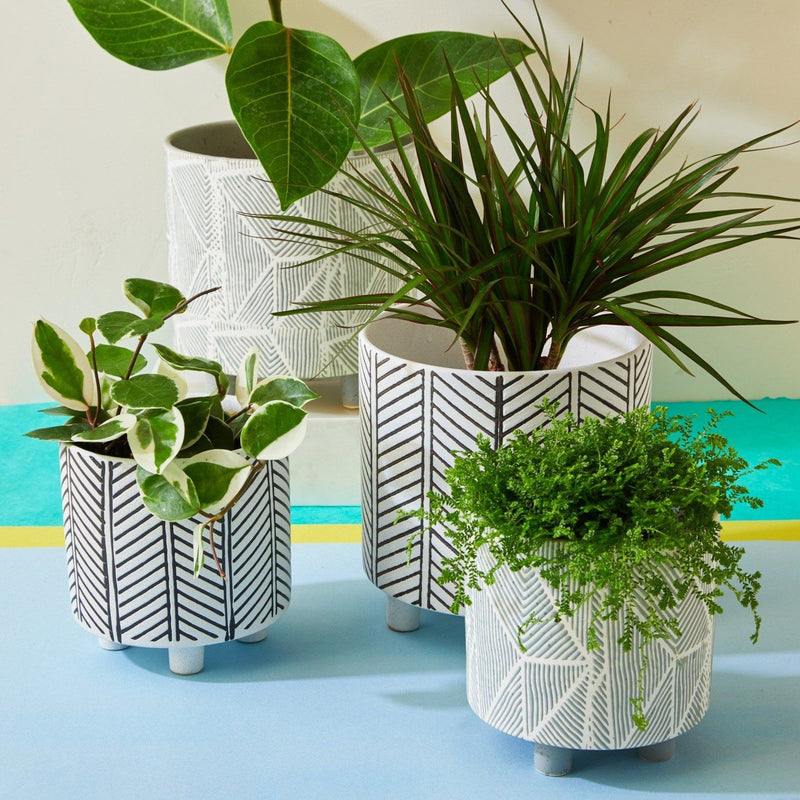 Geometric Planter Cloud, Set of 2