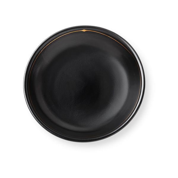Palm Desert Luncheon Plates in Black, Set of 4