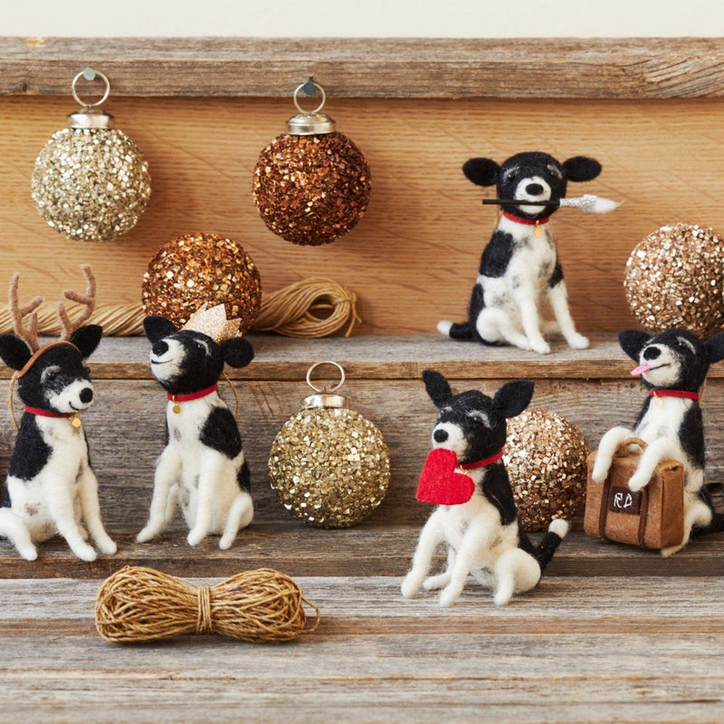 Wilma Felt Ornament, Set of 5