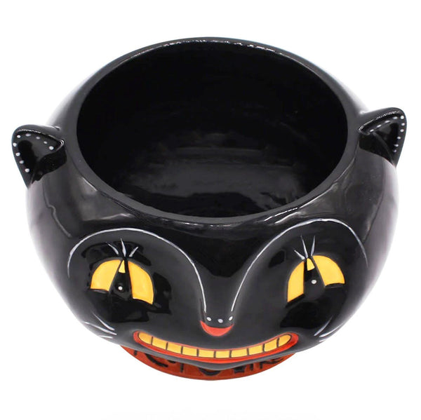 Carnival Cottage Trick or Treat Cat Candy Bowl