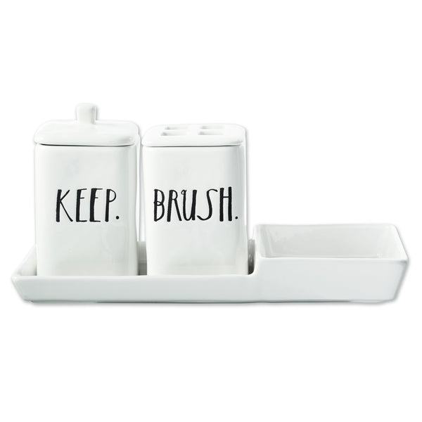 Stem Print Powder Room Set
