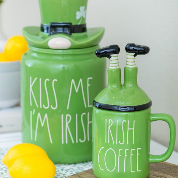Rae Dunn Artisan Irish Canister with Hat Topper