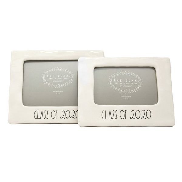 "Rae Dunn Artisan Collection Graduation ""Class Of"" 2020 Picture Frames, Set of 2"