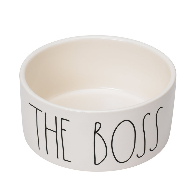 Rae Dunn Artisan THE BOSS Pet Bowl,  6""