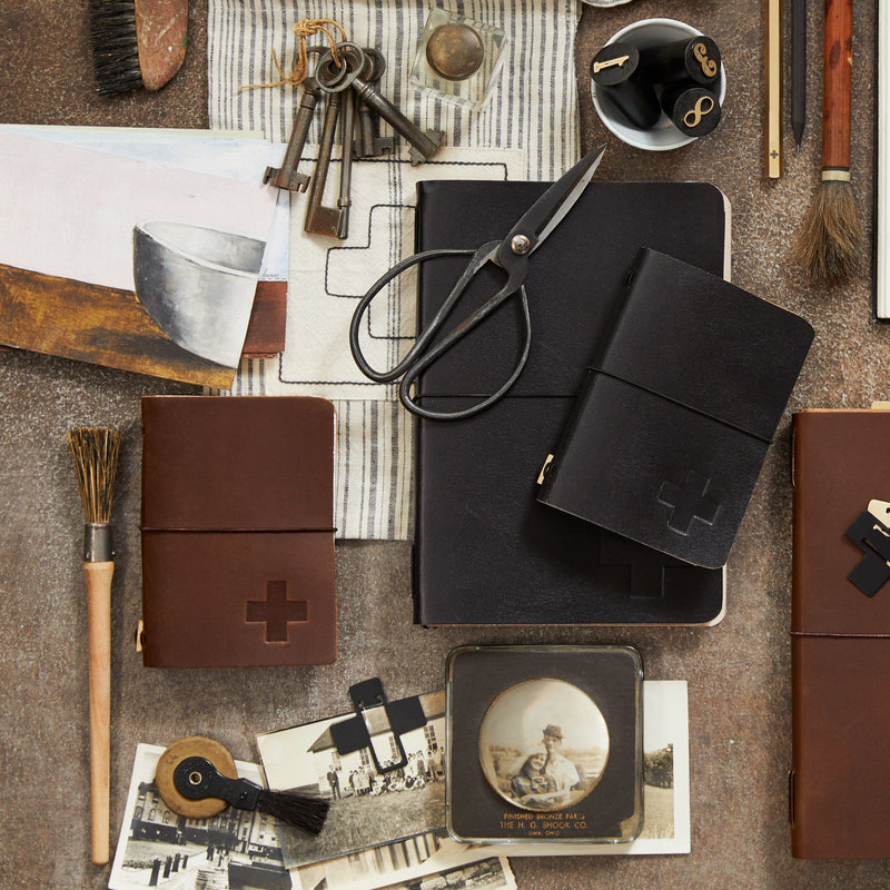 Icon Leather Artist Pocket Journal Brown