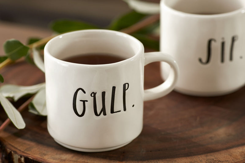 Stem Print SIP + GULP Mugs, Set of 2