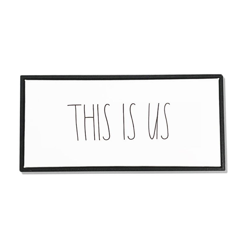 "Rae Dunn Artisan Collection ""This Is Us"" Canvas Frame"