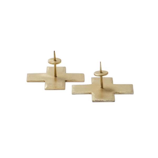 Icon Taper Candle Holders Brass, Set of 2