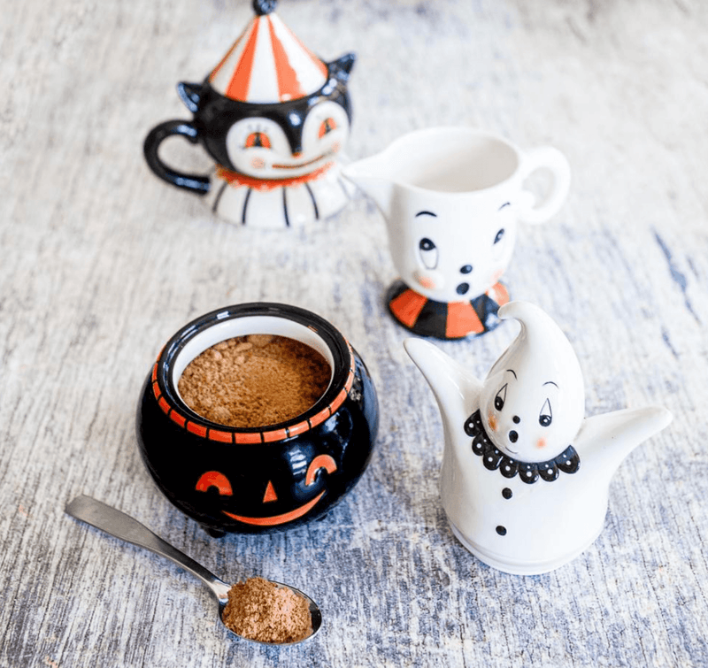 Carnival Cottage Cat Mug and Topper