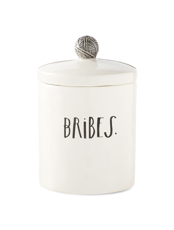 Stem Print BRIBES Cat Treat Canister
